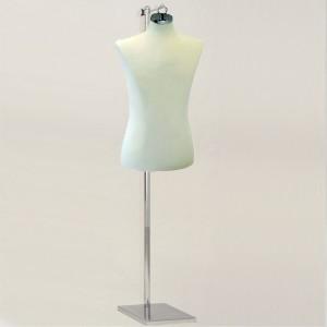 Pack Male bust form + Rectangular metal base + Hanger