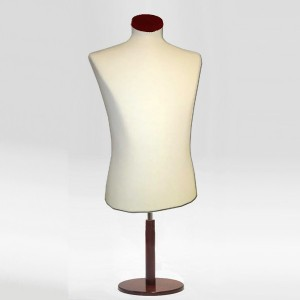 Pack Busto de caballero corto + Base madera redonda + Tapa de madera plana