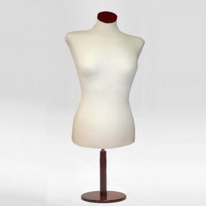 Pack Busto corto donna + Base in legno rotonda + Tappo in legno piana