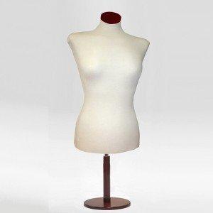 Pack Busto corto de señora + Base madera redonda + Tapa de madera plana