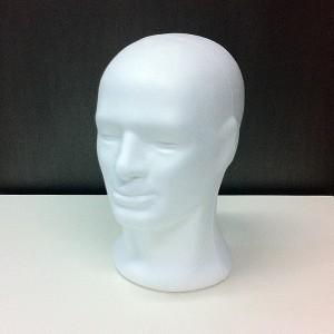 Männlichen Kopf in porexpan (Kork)