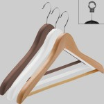 Curved wooden hanger with bar 45 cm.