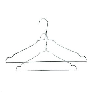 Galvanized wire metal hanger with notches 34-41cm.