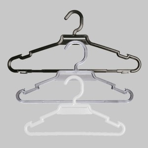 Round plastic hanger with bar and notches 27, 35 or 40 cm.