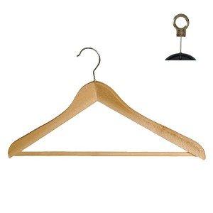 Cintre en bois de hêtre courbée avec bar 40 ou 45 cm.