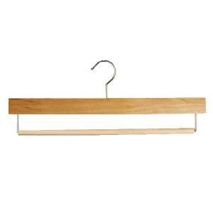 Beechwood hanger with swivel bar for pants