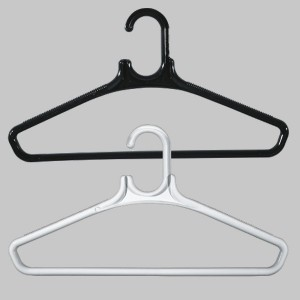 Round plastic hanger with bar 45 cm.