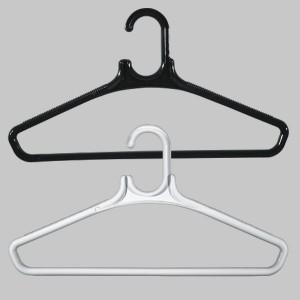 Runde Kunststoff-Kleiderbügel mit Stange 45 cm.