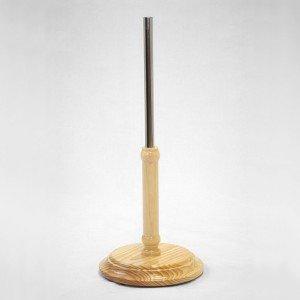 Holzbase Drehteile durchmesser 29cm. Holzmast 40cm. Metallrohr 35cm.