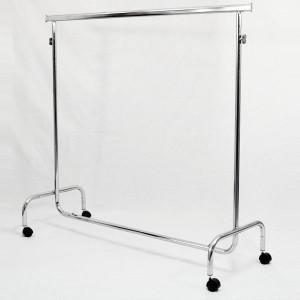 Kleiderstange aus Metall mit Rollen breit 150 cm. ausfahrbaren und höhenverstellbare
