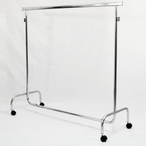 Metallic clothes rack with wheels width 150cm. extensible and height adjustable