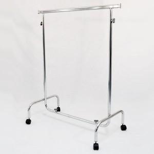 Kleiderstange aus Metall mit Rollen breit 100 cm. ausfahrbaren und höhenverstellbare