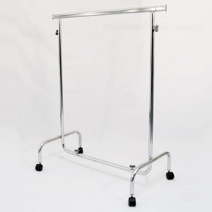Metallic clothes rack with wheels width 100cm. extensible and height adjustable