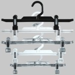 Plastic hanger with clips for skirt or pant 25 or 31 cm.