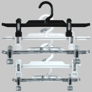 Cintre en plastique avec clips pour jupe ou pantalon 25 ou 31 cm.