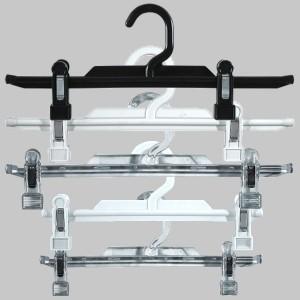 Kunststoff-Kleiderbügel mit Clips für Rock oder Hose 25 oder 31 cm.