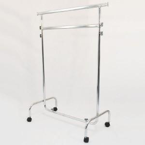 Porte-vêtements en métal avec roues 100cm de large extensible et réglable hauteur avec doubles barres