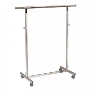 Kleiderstange aus Metall mit Rollen breit 100 cm. ausfahrbaren und höhenverstellbare MOD.1