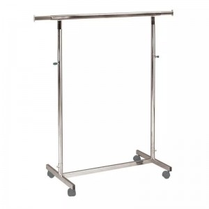 Metallic clothes rack with wheels width 100cm. extensible and height adjustable MOD.1