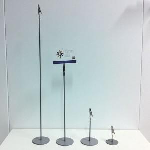 Portaprecio metálico con pinza varias alturas