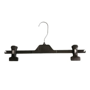Plastic hanger for skirts and pants with slide clamps 24-30-36-40 cm.