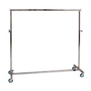 Penjador metàllic plegable amb rodes d'ample 150cm. regulable en alçada