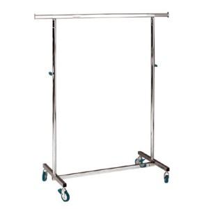 Kleiderstange aus Metall zusammenfaltbar mit Rollen breit 100 cm. höhenverstellbare