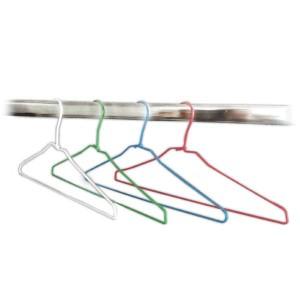 Percha para tintorería y lavandería de alambre forrada 42cm.