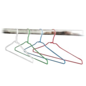 Wire hanger lined 42cm. for laundry and dry cleaner