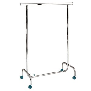 Economic clothes rack fixed height 100cm. in length with wheels