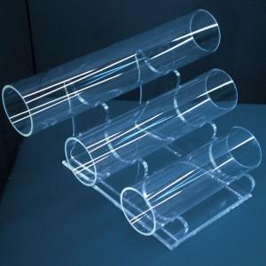 Présentoir de bracelets 3 tubes de 25-20-15cm. à différentes hauteurs
