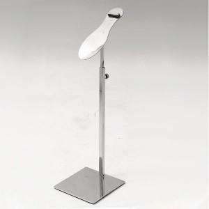 Présentoir sur la table en acier inoxydable pour chaussure ou pantoufle