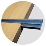 Aluminum guide for panel slats 120 cm.