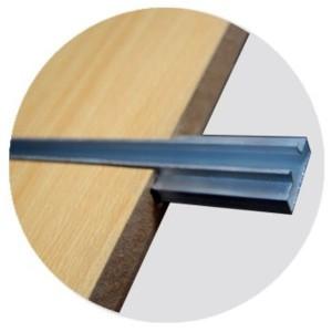 Guía de aluminio para panel de lama 120 cm.