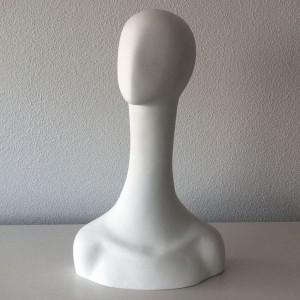 Tête de femme sans traits en fibre de verre mod.2