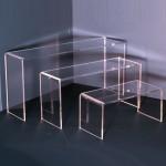 Présentoir corniche rectangulaire différentes hauteurs