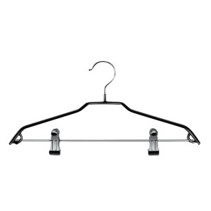 Metal hanger with clips and non-slip 39 cm.