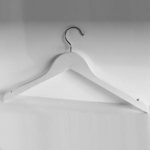 Holz Kleiderbügel ohne Steg mit Kerben 42-43 cm.
