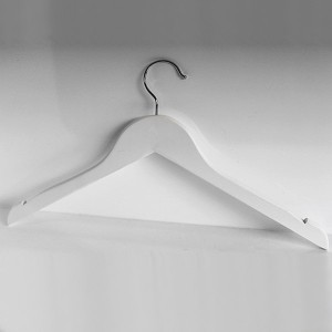 wooden hanger without bar with notches 42-43 cm.