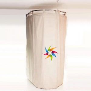 Umkleidekabine gekrümmt von 98 x 98 cm.