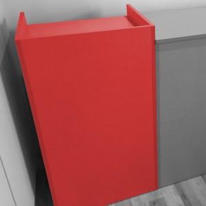 Mostrador de madera 55 X 50 X 107 cm. en varios colores