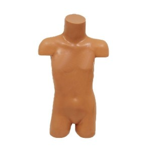 Child torso form with shoulders in polyethylene