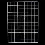 Steel mesh in white in various sizes