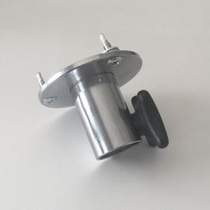 Adaptador torso a base con palomilla de regulación de altura