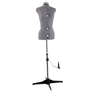 Fully adjustable bust form mannequin
