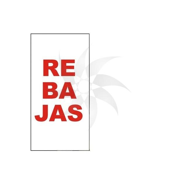 Cartell de REBAIXES per l'aparador de la botiga vinil electrostàtic