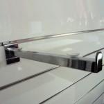 Supporta scaffale dritto con contenzione per Pannello Slat