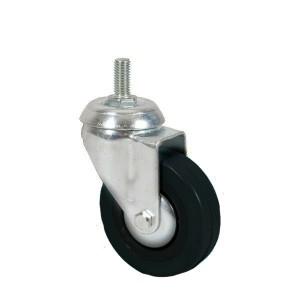 Rueda con tornillo para perchero sin freno diámetro 80mm.