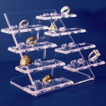 Espositore di 24 anelli in 8 basi alzate