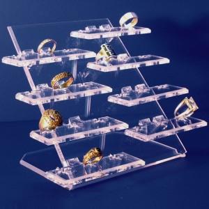 Expositor de 24 anillos sobre 8 bases elevadas
